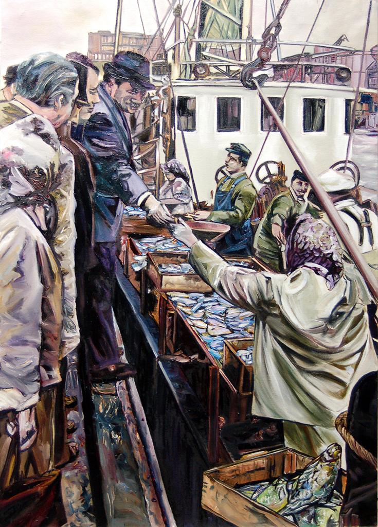 2014, Fischmarkt mit Flundern